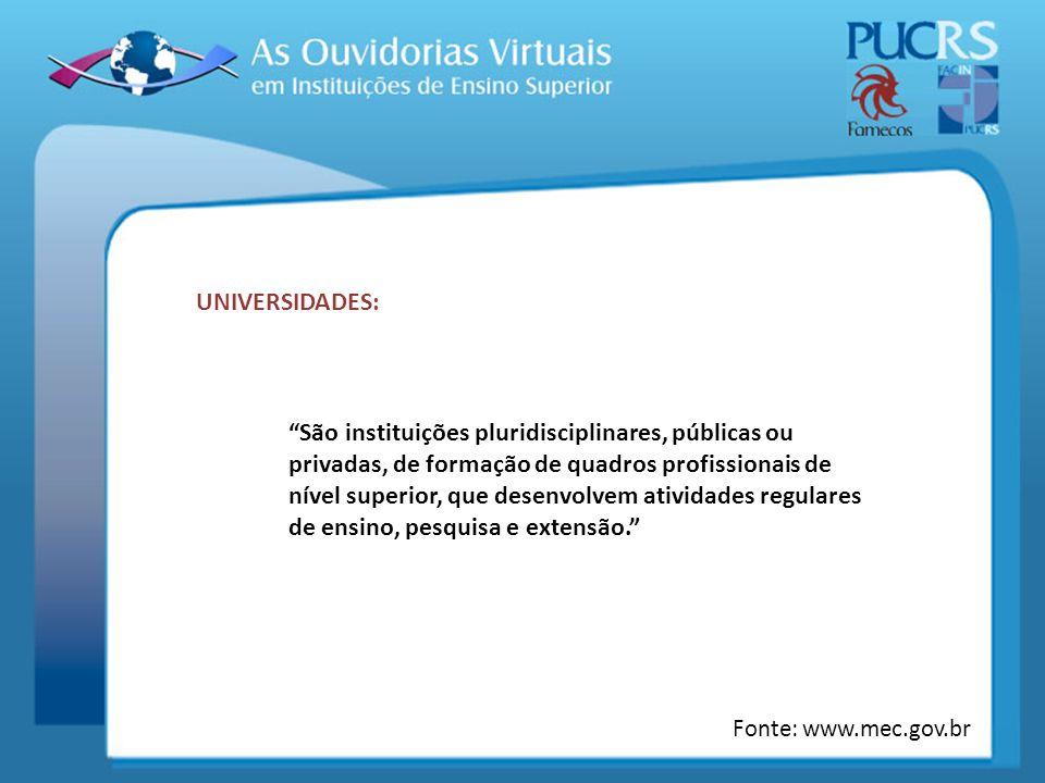 UNIVERSIDADES: