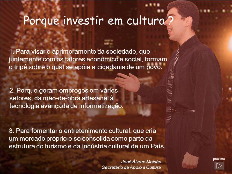 Porque investir em cultura