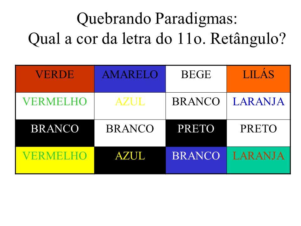 Quebrando Paradigmas: Qual a cor da letra do 11o. Retângulo
