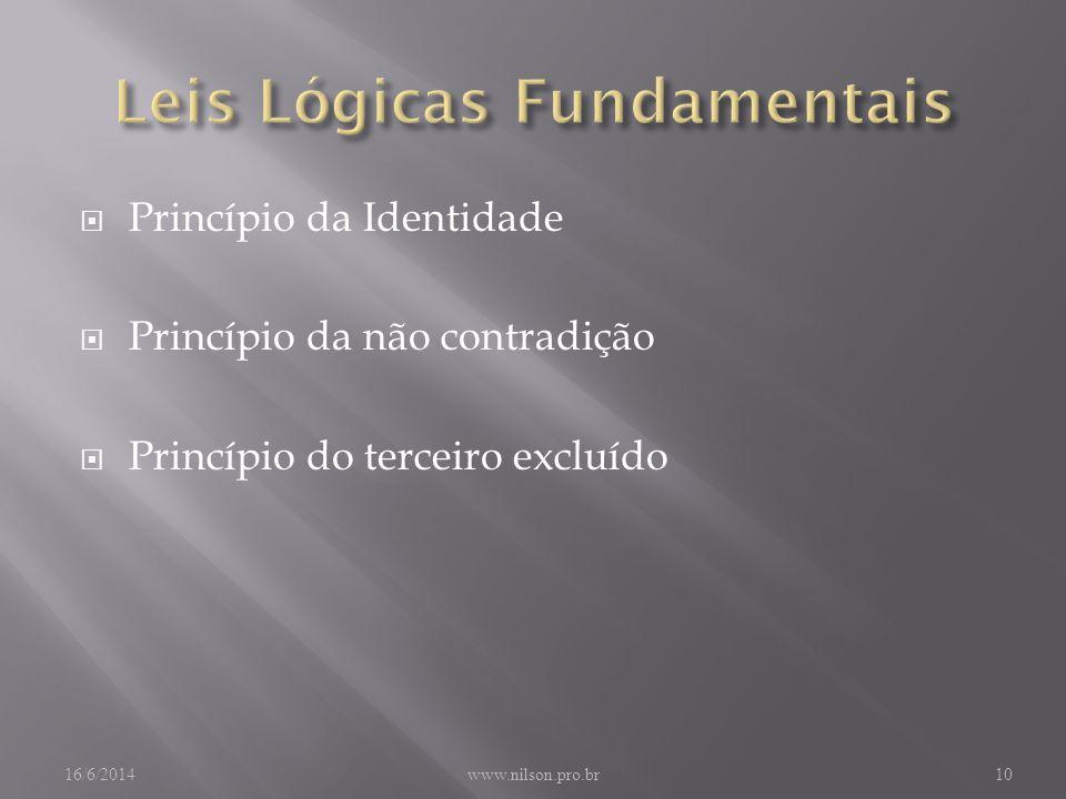 Leis Lógicas Fundamentais