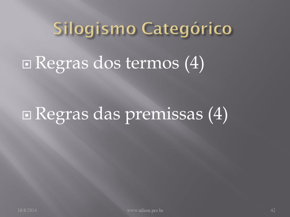 Regras das premissas (4)