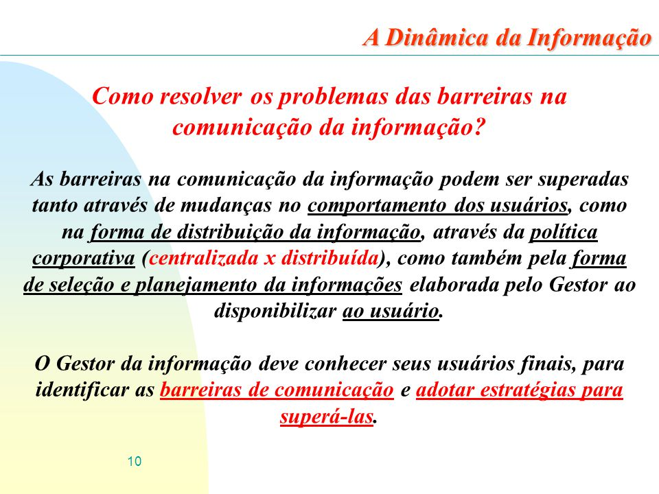 Como resolver os problemas das barreiras na comunicação da informação