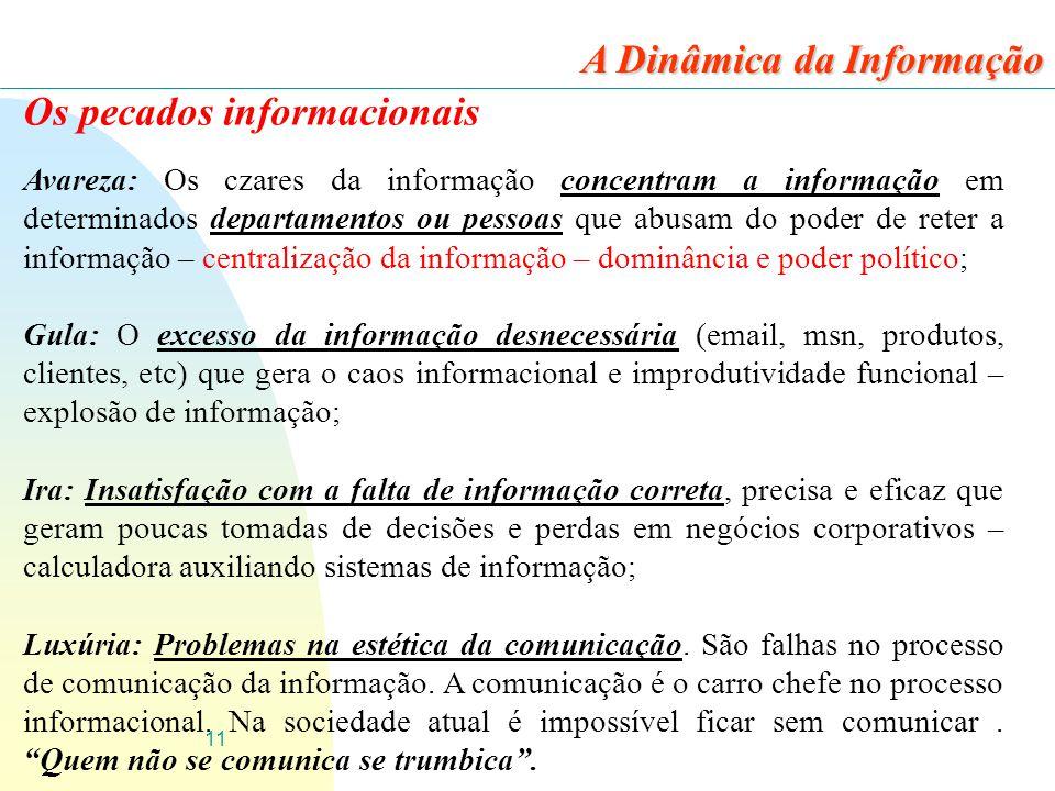 A Dinâmica da Informação Os pecados informacionais