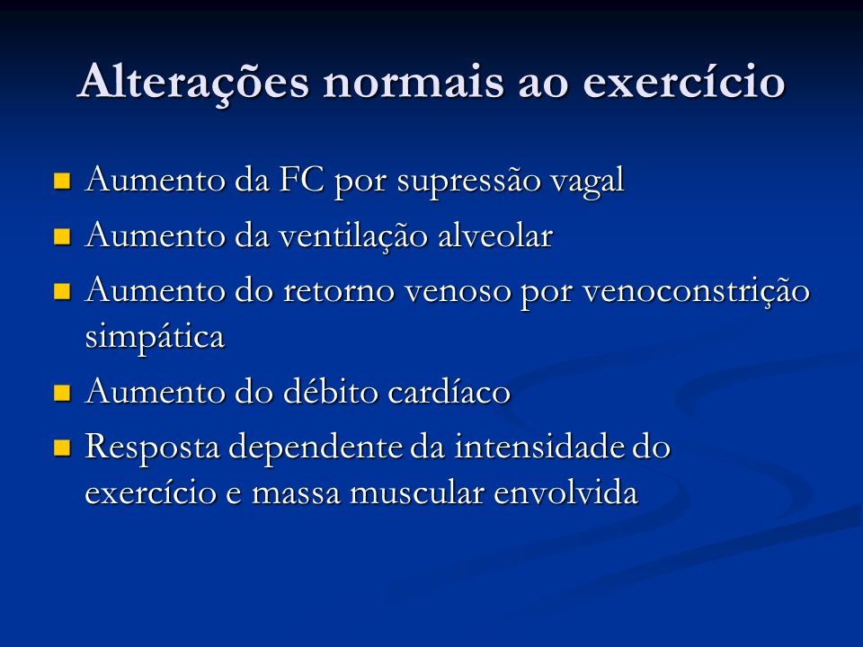Alterações normais ao exercício