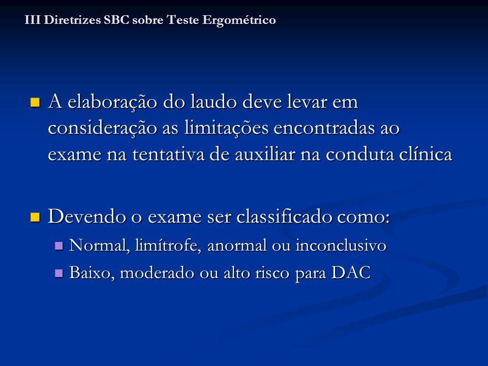 III Diretrizes SBC sobre Teste Ergométrico