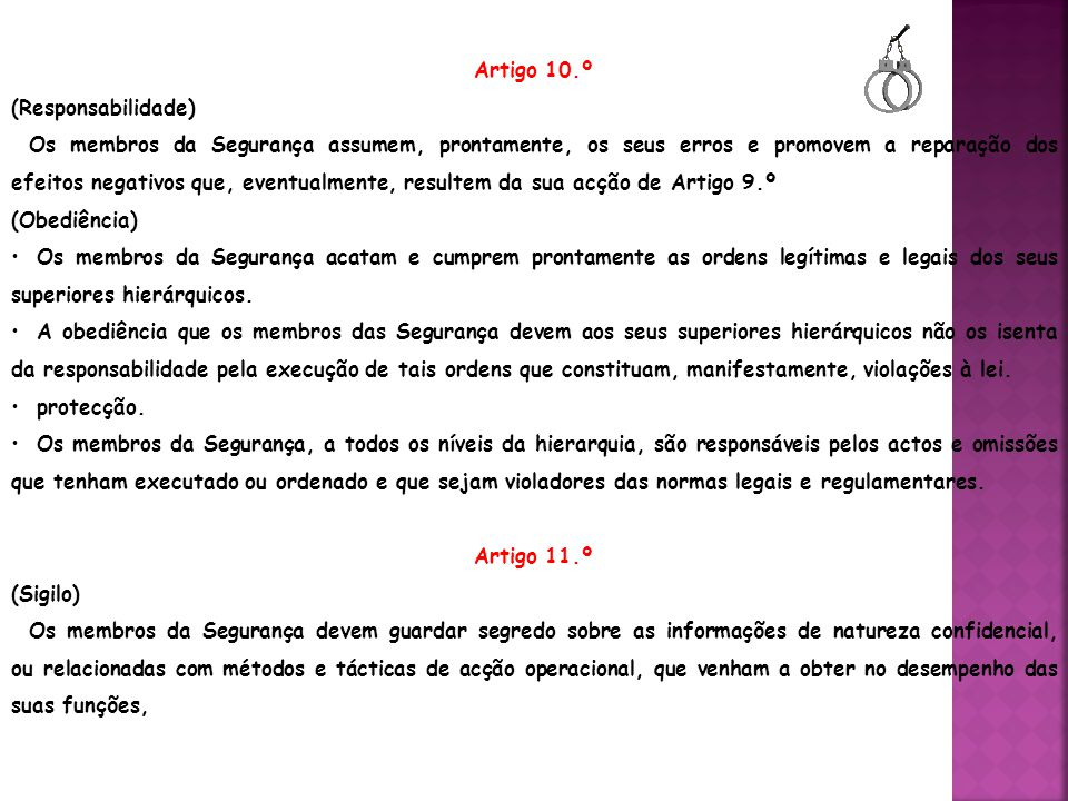 Artigo 10.º (Responsabilidade)