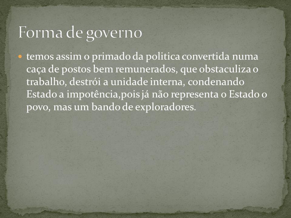 Forma de governo