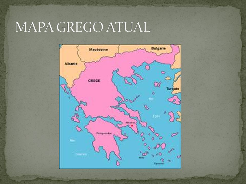 MAPA GREGO ATUAL