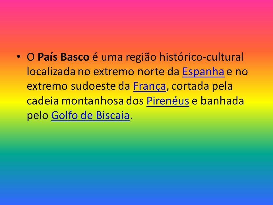 O País Basco é uma região histórico-cultural localizada no extremo norte da Espanha e no extremo sudoeste da França, cortada pela cadeia montanhosa dos Pirenéus e banhada pelo Golfo de Biscaia.