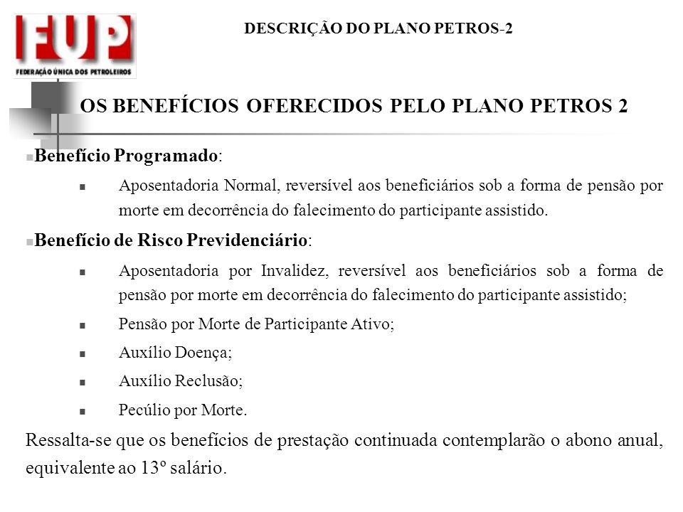 OS BENEFÍCIOS OFERECIDOS PELO PLANO PETROS 2