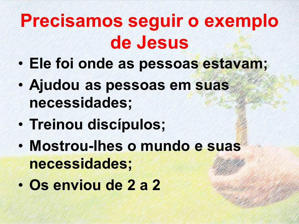 Precisamos seguir o exemplo de Jesus