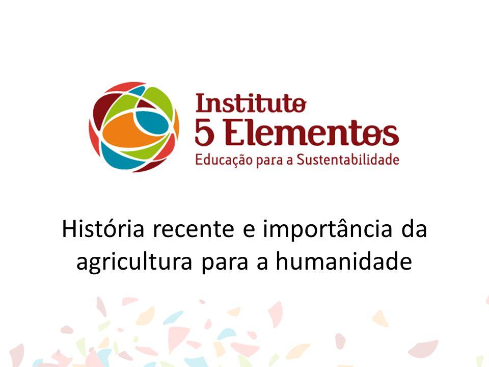 História recente e importância da agricultura para a humanidade