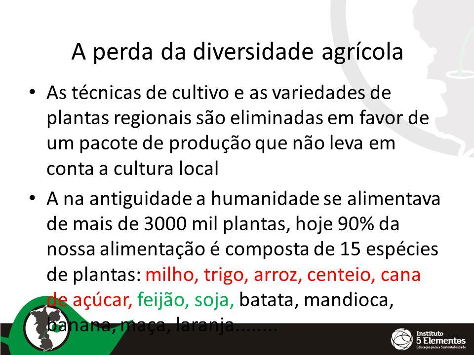A perda da diversidade agrícola