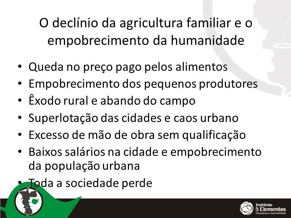 O declínio da agricultura familiar e o empobrecimento da humanidade