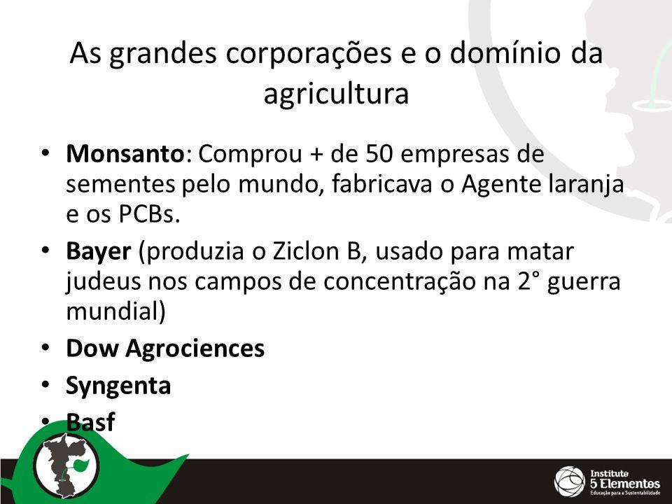 As grandes corporações e o domínio da agricultura