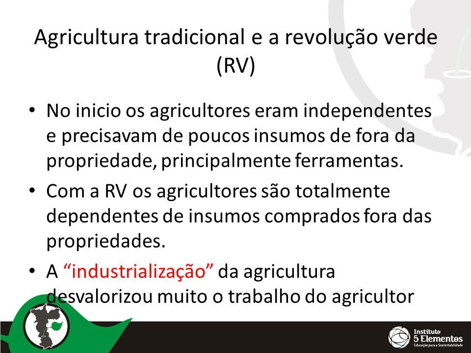 Agricultura tradicional e a revolução verde (RV)