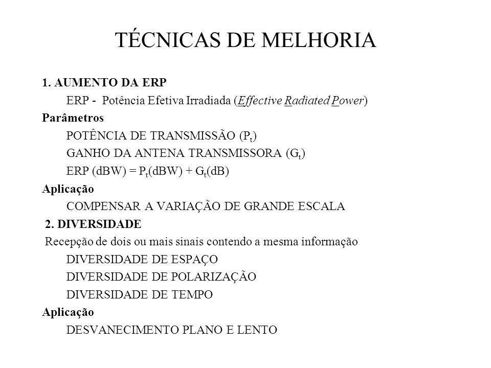 TÉCNICAS DE MELHORIA 1. AUMENTO DA ERP