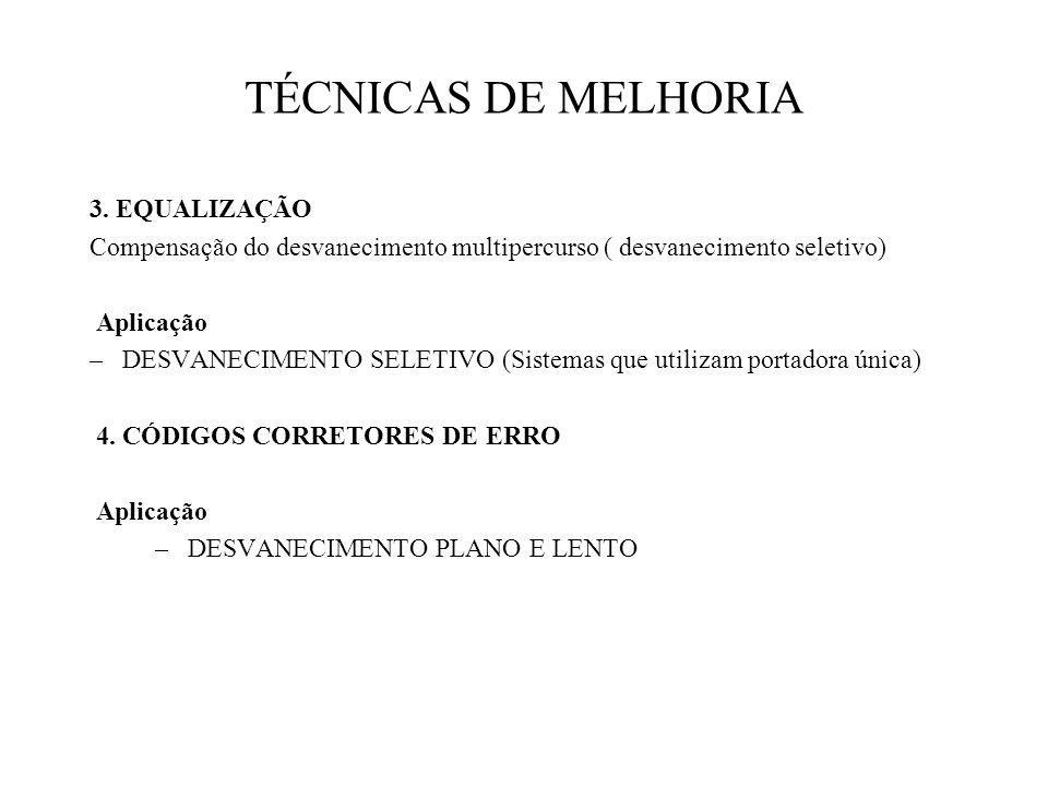 TÉCNICAS DE MELHORIA 3. EQUALIZAÇÃO