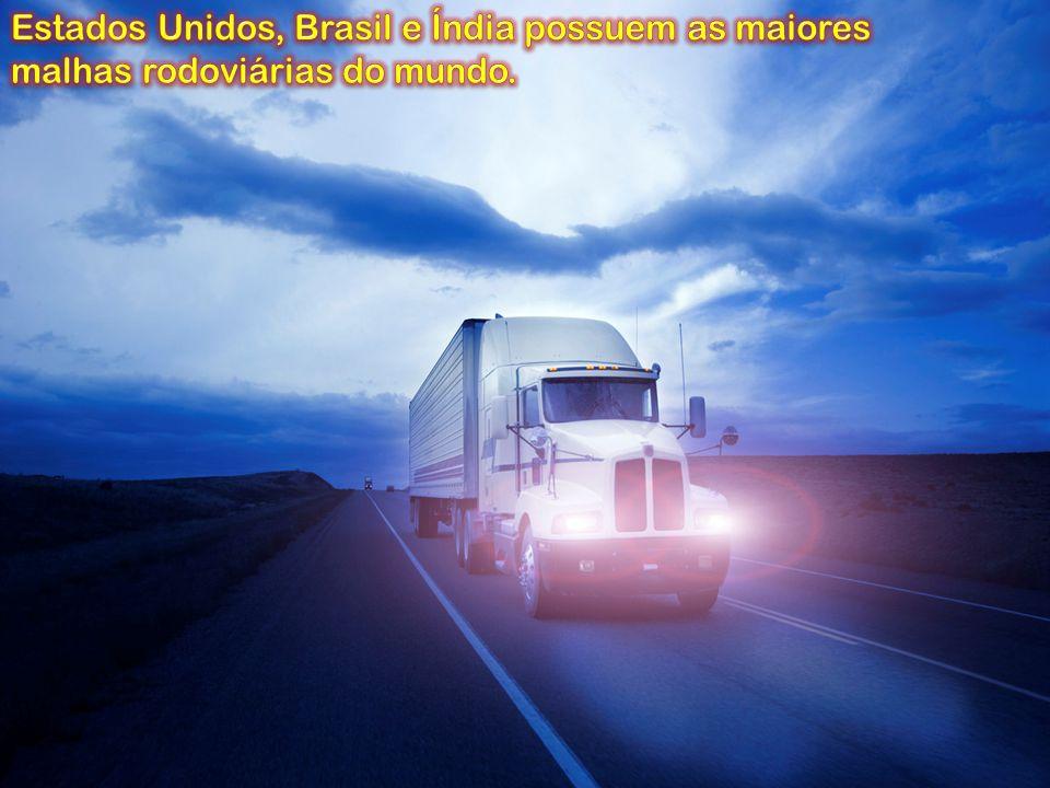 Estados Unidos, Brasil e Índia possuem as maiores malhas rodoviárias do mundo.