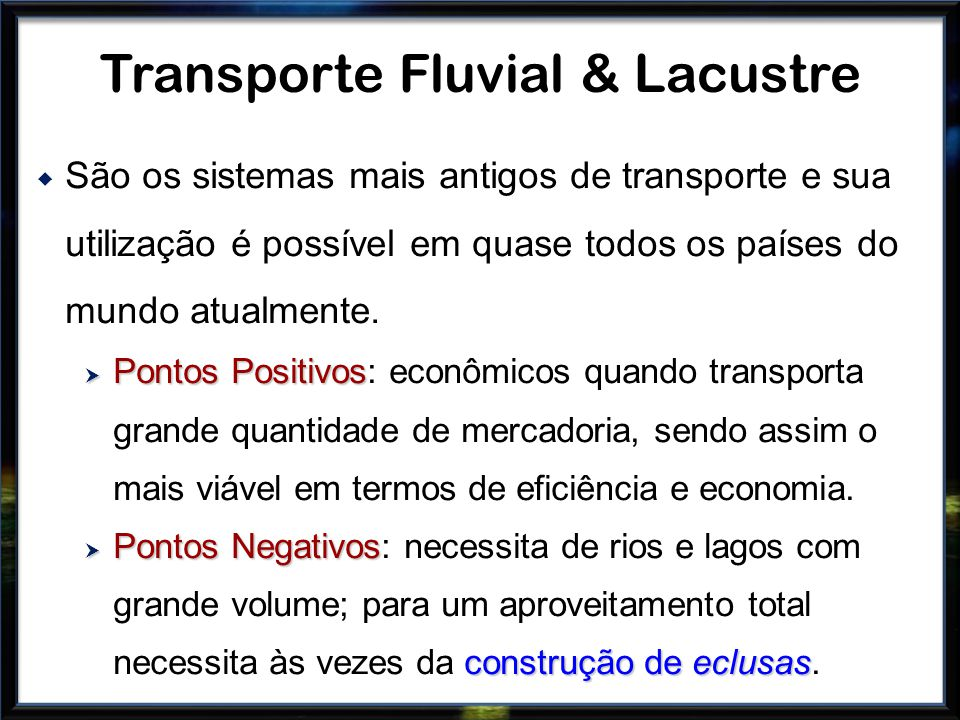Transporte Fluvial & Lacustre
