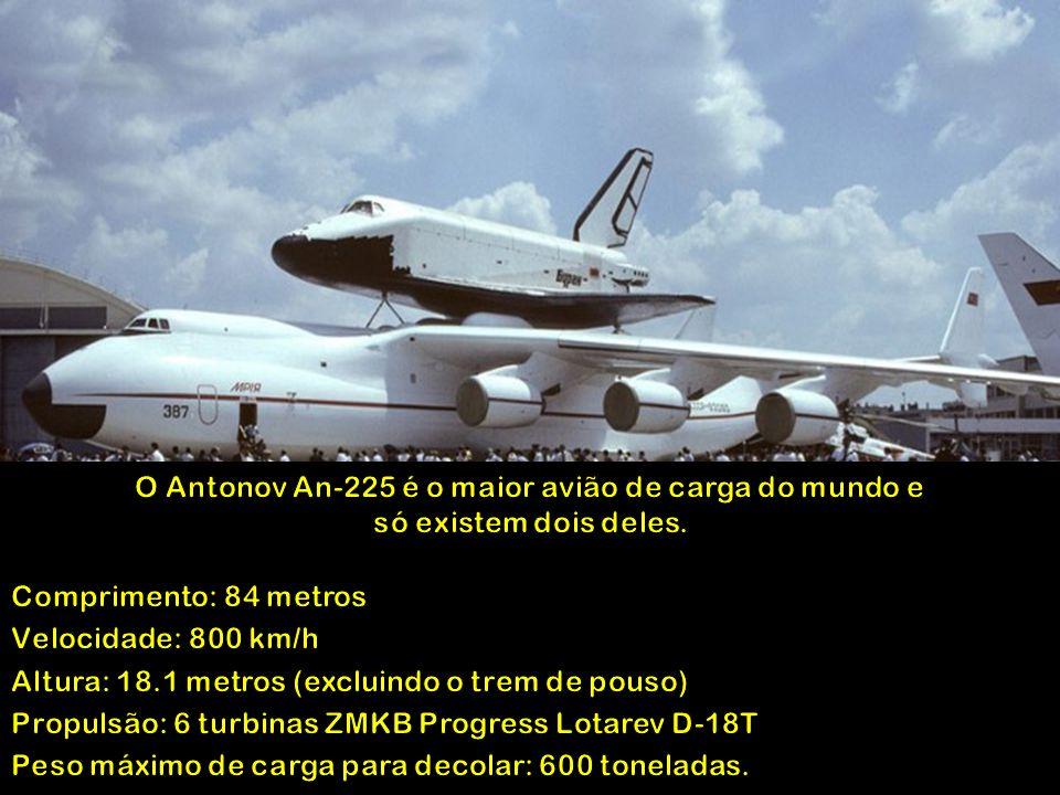 O Antonov An-225 é o maior avião de carga do mundo e só existem dois deles.
