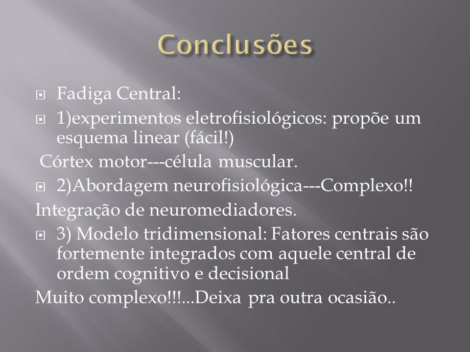 Conclusões Fadiga Central: