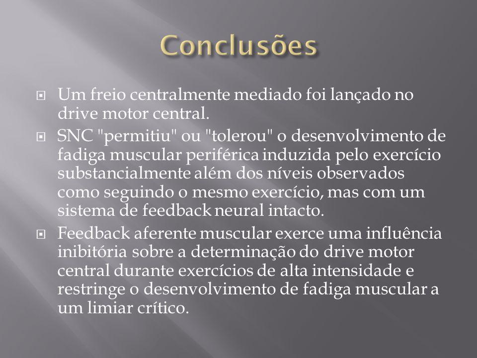 Conclusões Um freio centralmente mediado foi lançado no drive motor central.