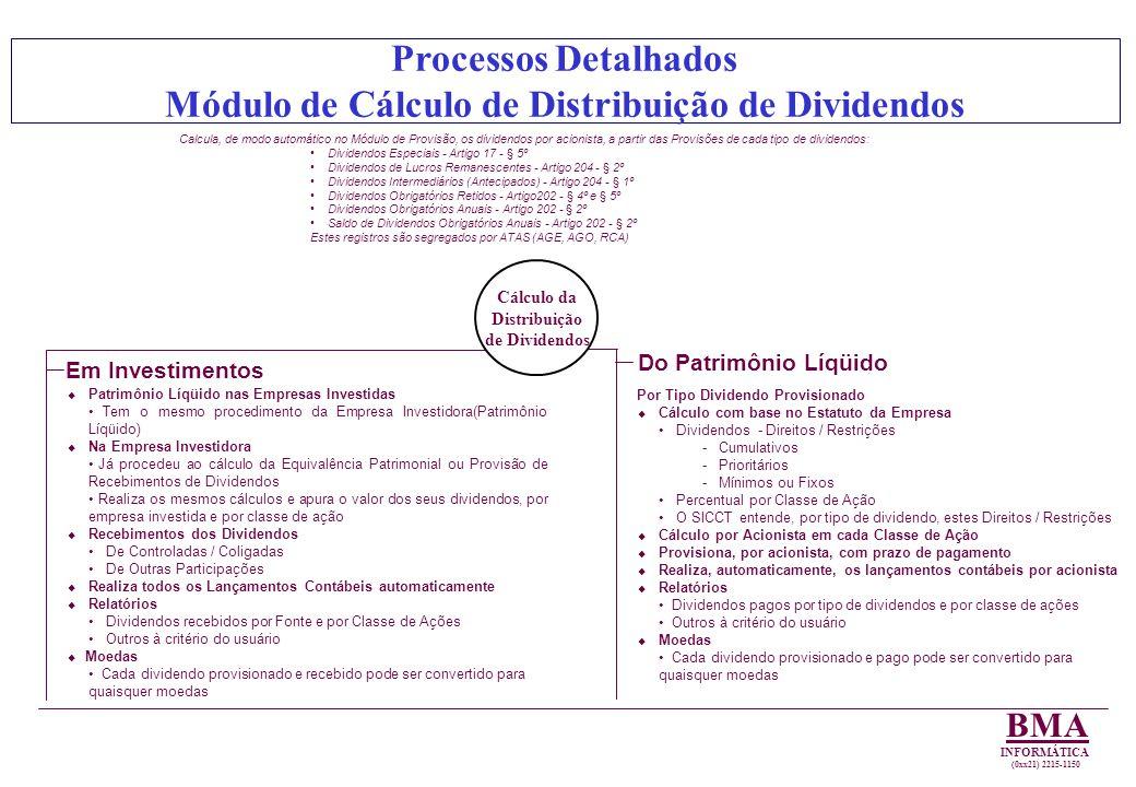 Módulo de Cálculo de Distribuição de Dividendos