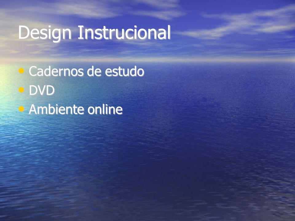 Design Instrucional Cadernos de estudo DVD Ambiente online