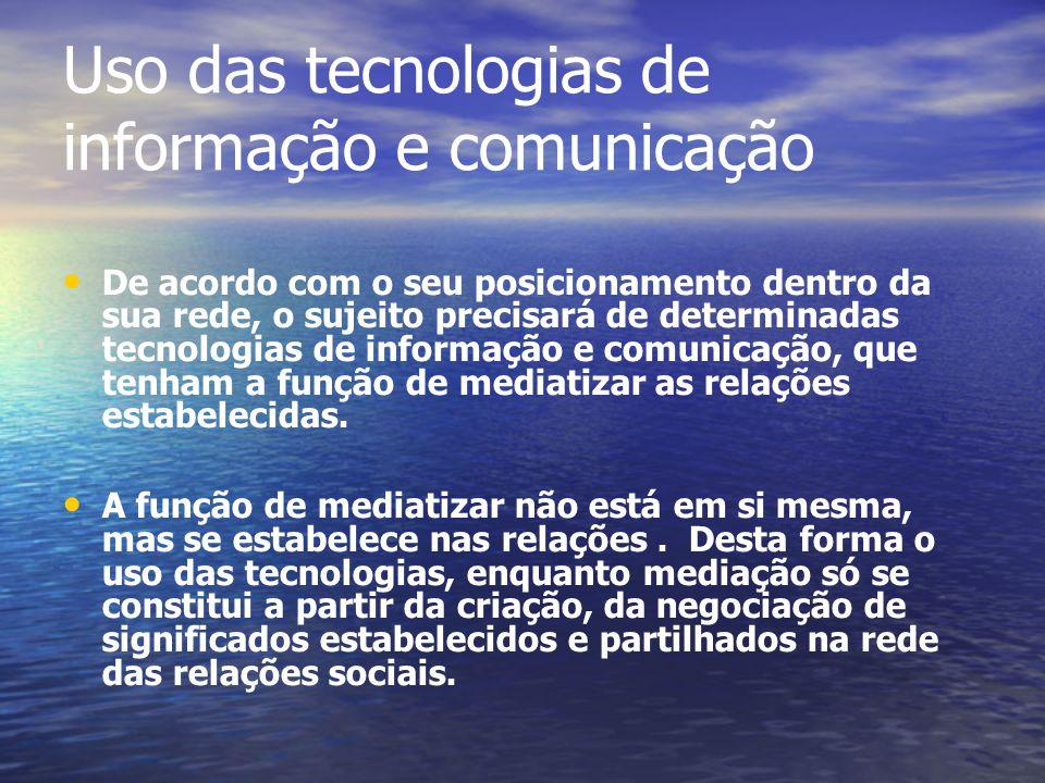 Uso das tecnologias de informação e comunicação