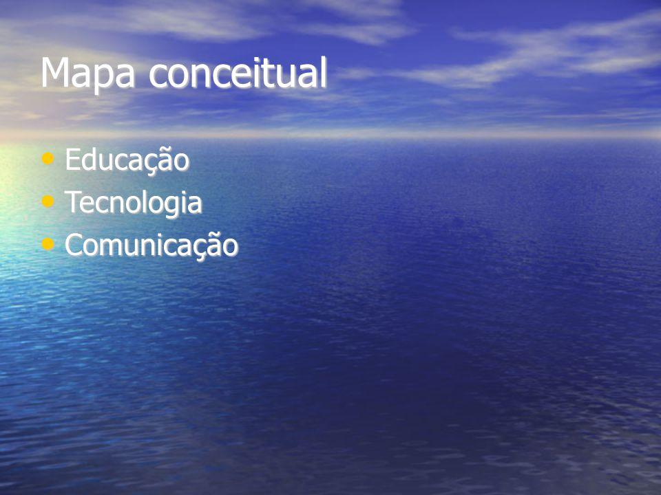 Mapa conceitual Educação Tecnologia Comunicação