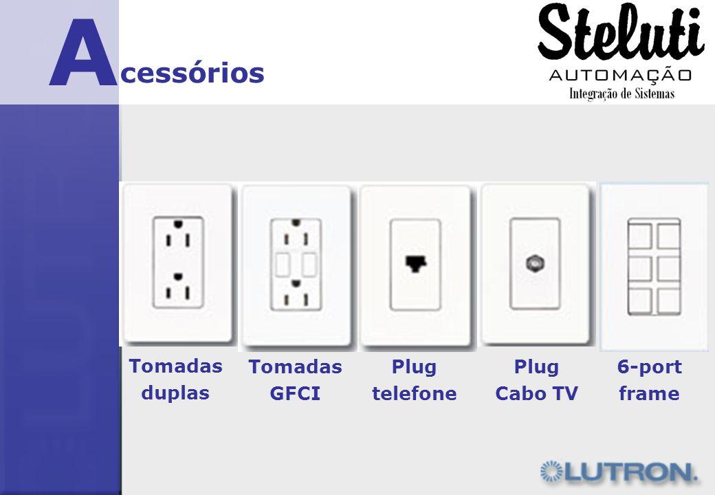 A cessórios Tomadas duplas Tomadas GFCI Plug telefone Plug Cabo TV
