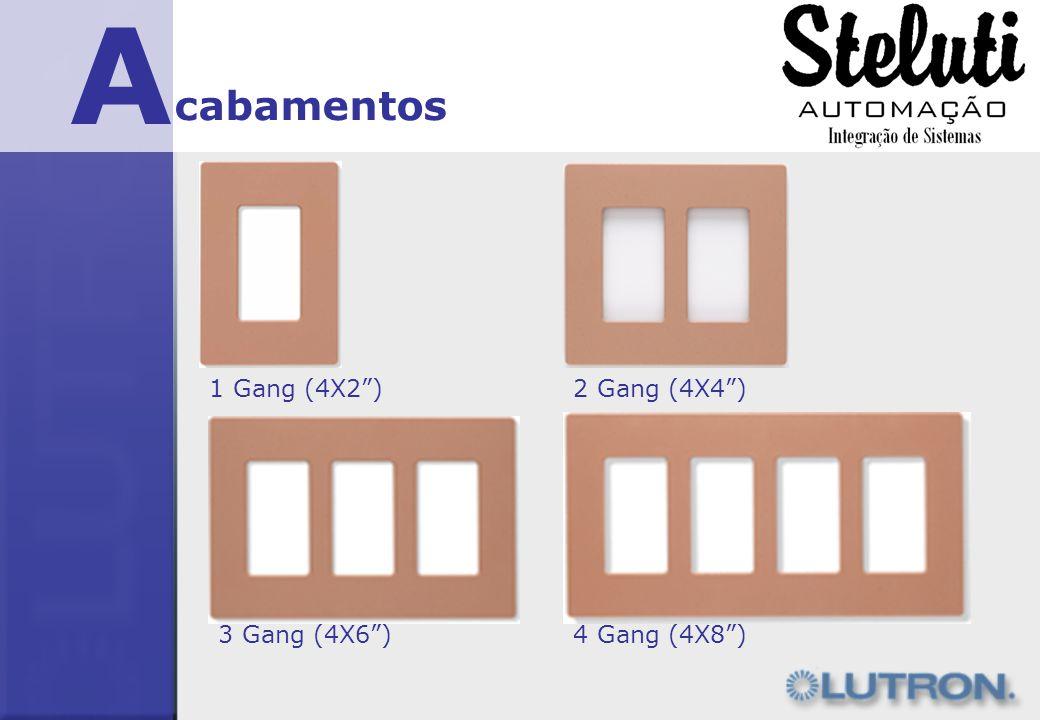 A cabamentos 1 Gang (4X2 ) 2 Gang (4X4 ) 3 Gang (4X6 ) 4 Gang (4X8 )