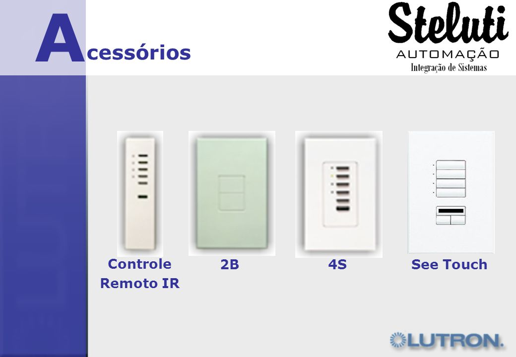 A cessórios Controle Remoto IR 2B 4S See Touch