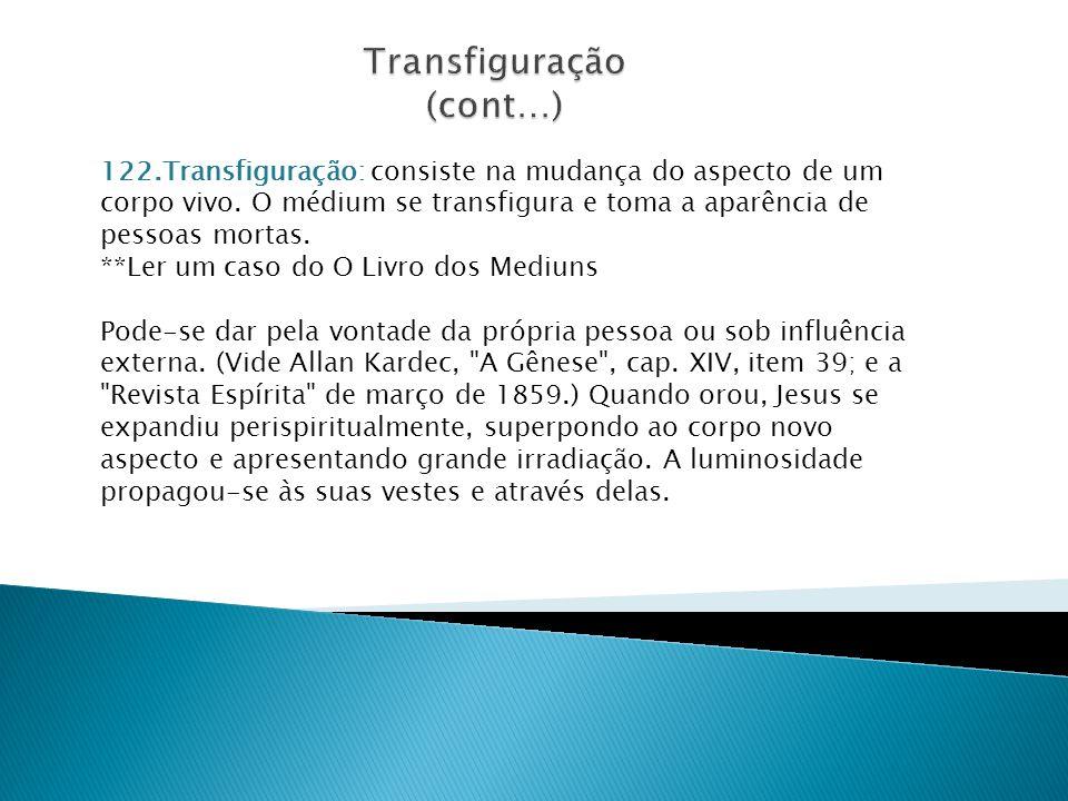 Transfiguração (cont…)
