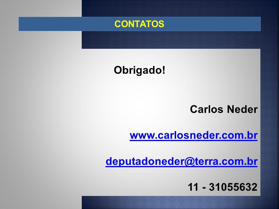 Obrigado! Carlos Neder www.carlosneder.com.br