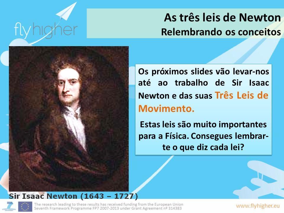 As três leis de Newton Relembrando os conceitos