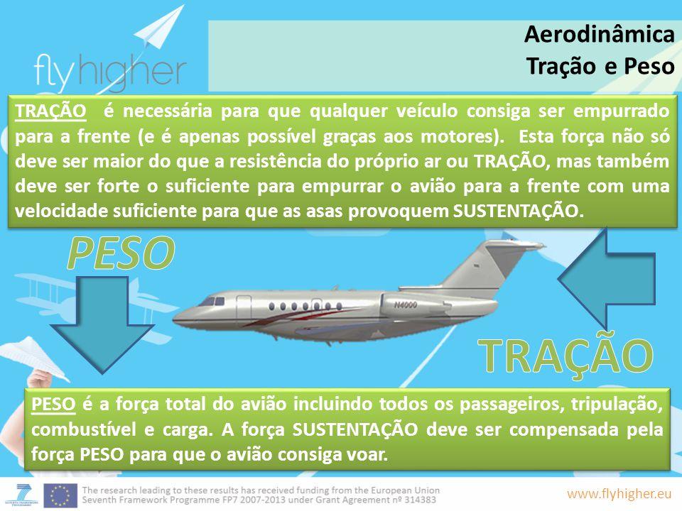 PESO TRAÇÃO Aerodinâmica Tração e Peso