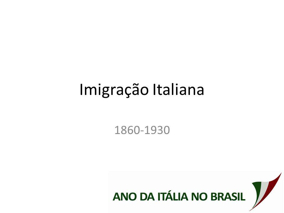 Imigração Italiana 1860-1930