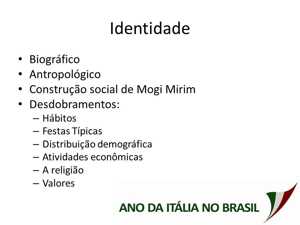 Identidade Biográfico Antropológico Construção social de Mogi Mirim