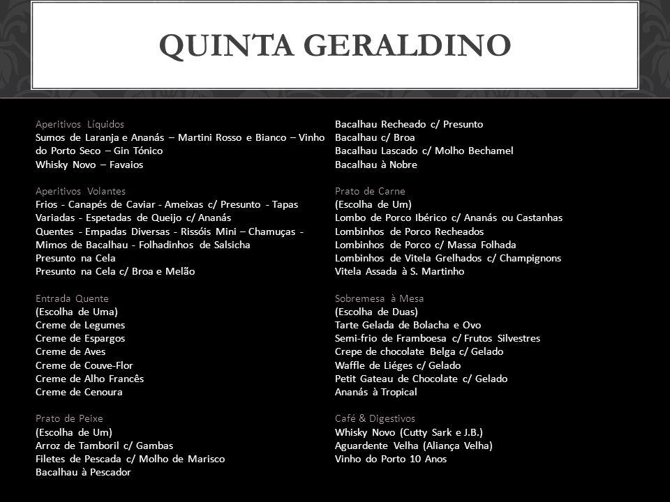 Quinta geraldino Aperitivos Líquidos Bacalhau Recheado c/ Presunto