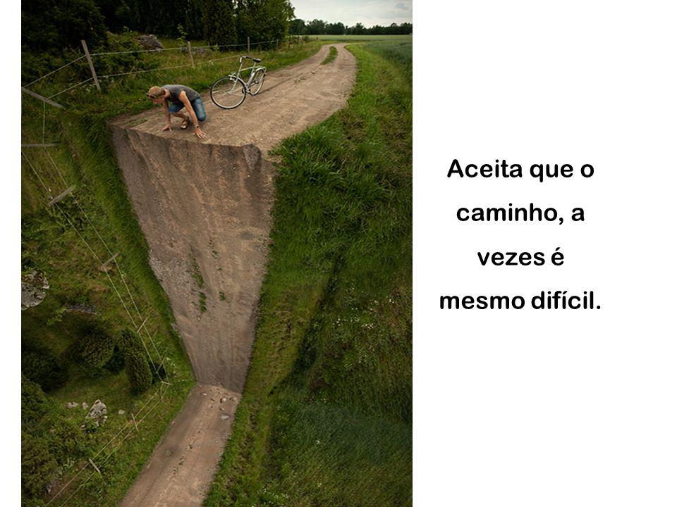 Aceita que o caminho, a vezes é mesmo difícil.