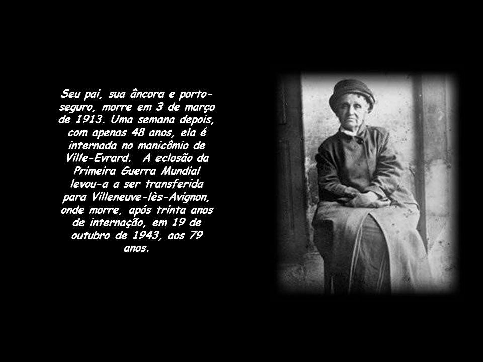 Seu pai, sua âncora e porto-seguro, morre em 3 de março de 1913