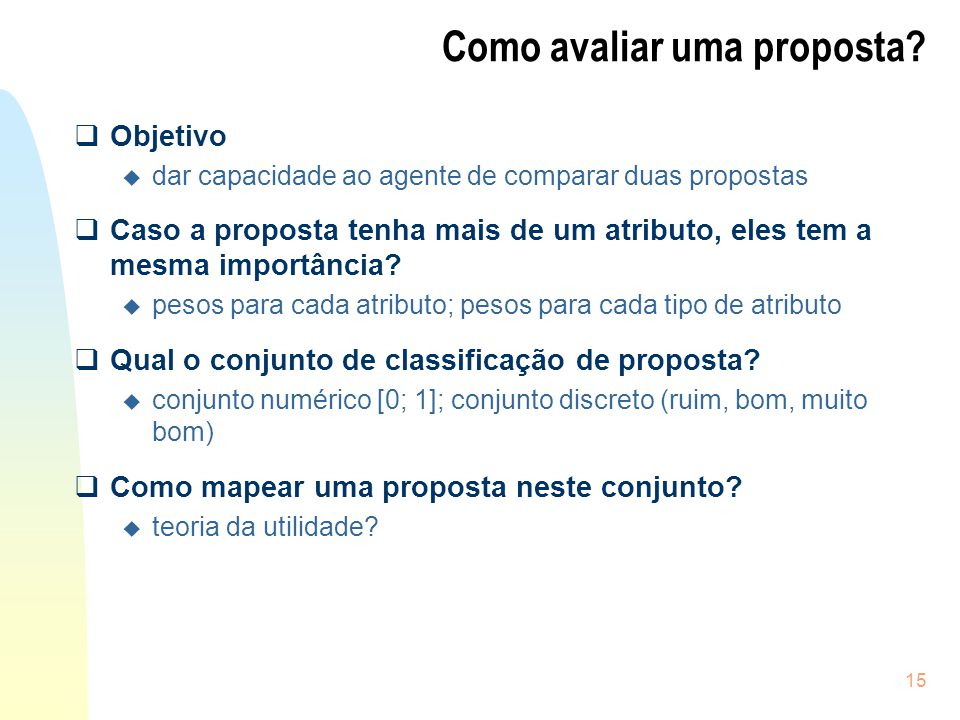 Como avaliar uma proposta