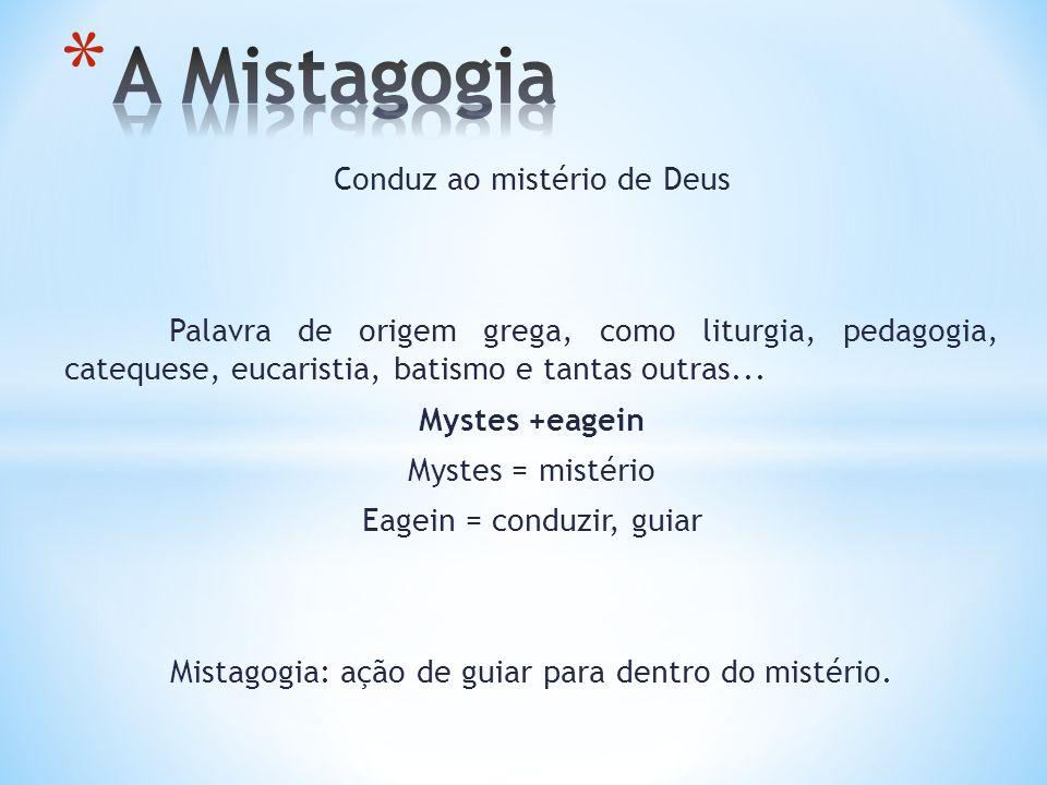 A Mistagogia Conduz ao mistério de Deus