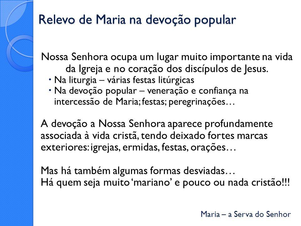 Relevo de Maria na devoção popular