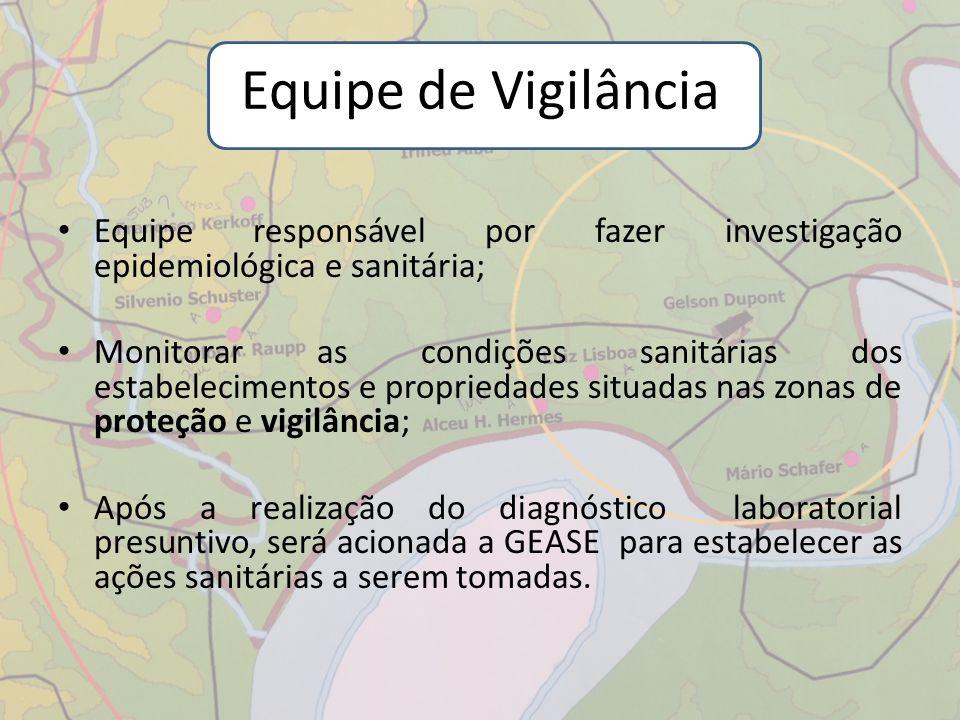 Equipe de Vigilância Equipe responsável por fazer investigação epidemiológica e sanitária;