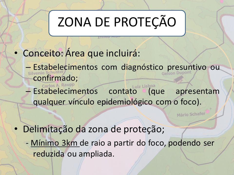 ZONA DE PROTEÇÃO Conceito: Área que incluirá: