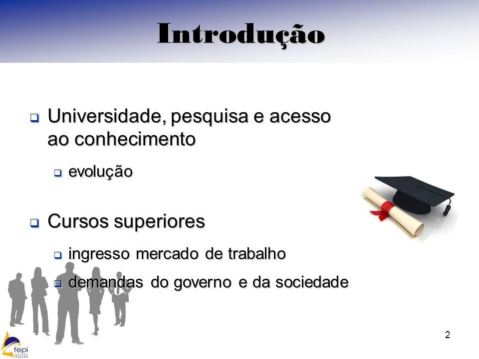 Introdução Universidade, pesquisa e acesso ao conhecimento