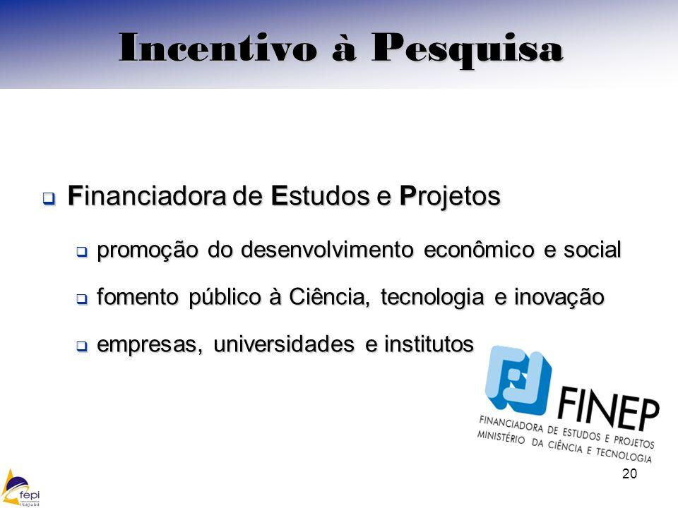 Incentivo à Pesquisa Financiadora de Estudos e Projetos